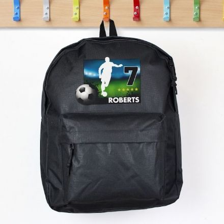 Personalised Black Backpack - Team Player